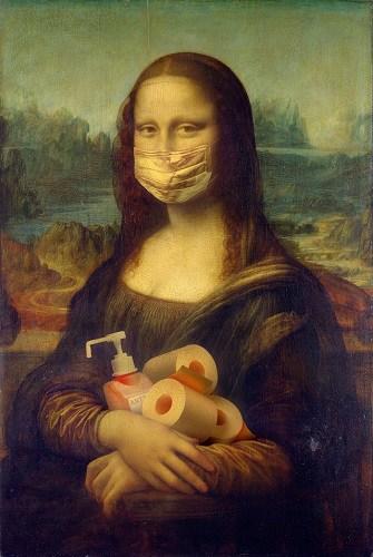 COVID Mona Lisa
